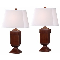 Kenroy Home Lighting Affiliate Mahogany Table Lamp Set
