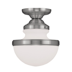 Livex Lighting Oldwick Brushed Nickel Semi-Flushmount Light