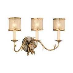 Corbett Lighting Parc Royale Gold and Silver Leaf Bathroom Light