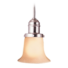 Hudson Valley Lighting Mini-Pendant Light with Amber Glass 3102-SN-116