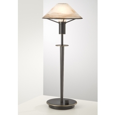 Holtkoetter Modern Table Lamp with Alabaster Glass in Hand-Brushed Old Bronze Finish