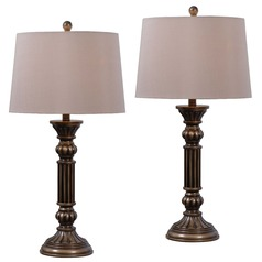 Kenroy Home Lighting Reese Aged Golden Bronze Table Lamp Set