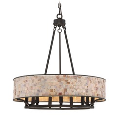 Quoizel Lighting Aristocrat Palladian Bronze Pendant Light with Drum Shade