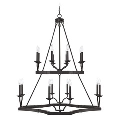 Capital Lighting Ravenwood Black Iron Chandelier