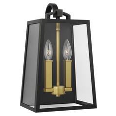 Feiss Lighting Lindbergh Antique Bronze / Painted Burnished Brass Outdoor Wall Light