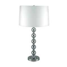 Lite Source Lighting Wit Polished Steel Table Lamp with Drum Shade