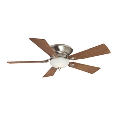 Ceiling Fan with Light with White Glass in Pewter Finish