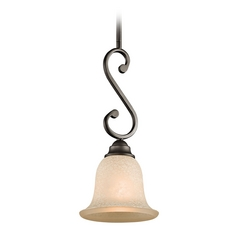 Kichler Mini-Pendant Light with White Scavo Glass