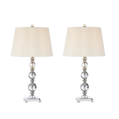 Design Classics Lighting Crystal Table Lamp Set  1456TL-26