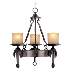 Livex Lighting Cape May Olde Bronze Mini-Chandelier