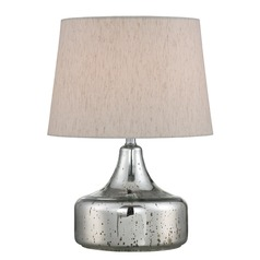 Lite Source Silas Chrome Table Lamp with Empire Shade