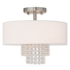 Livex Lighting Carlisle Brushed Nickel Semi-Flushmount Light