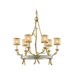 Corbett Lighting Parc Royale Gold and Silver Leaf Chandelier