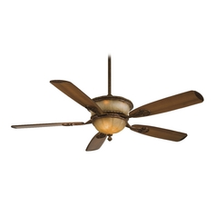 60-Inch Ceiling Fan with Light in Illuminati Bronze Finish