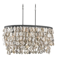 Currey and Company Lighting Natural / Black Smith Pendant Light