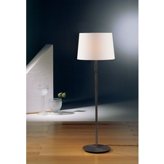 Holtkoetter Modern Floor Lamp with White Shades in Hand-Brushed Old Bronze Finish