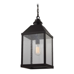 Feiss Lighting Lumiere Oil Rubbed Bronze Mini-Pendant Light with Rectangle Shade