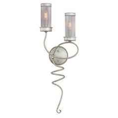 Kalco Lighting Concord Aged Silver Sconce
