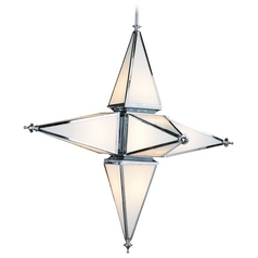 Cyan Design Star Chrome Pendant Light with Triangle Shade