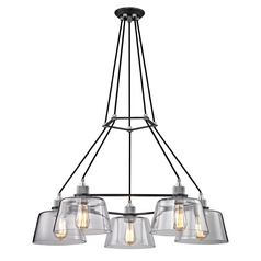 Troy Lighting Audiophile Old Silver / Aluminum Chandelier