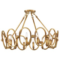 Clairpointe Pandora Gold Leaf Semi-Flushmount Light