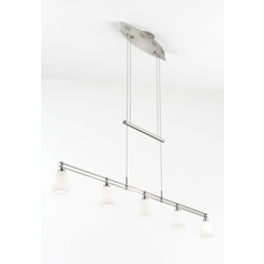 Holtkoetter Modern Low Voltage Pendant Light with White Glass in Satin Nickel Finish