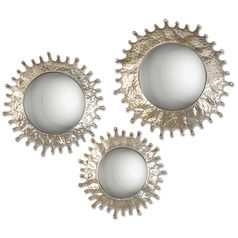 Uttermost Rain Splash Round Mirrors, Set of 3