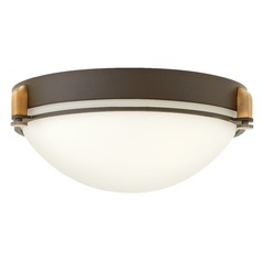 Hinkley Lighting Logan Buckeye Bronze Flushmount Light