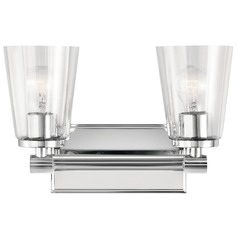 Transitional Bathroom Light Chrome Audrea by Kichler Lighting