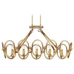 Metropolitan Lighting Clairpointe Pandora Gold Leaf Island Light