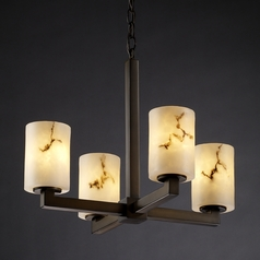 Justice Design Lumenaria 4-Light Mini Chandelier in Dark Bronze
