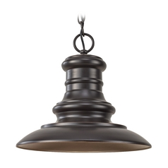Outdoor Hanging Light in Restoration Bronze Finish