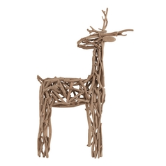 UMA Enterprises Rustic Reindeer Holiday Decoration 69429