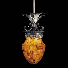 Mini-Pendant Light with Amber Glass