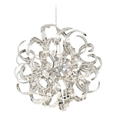 Quoizel Ribbons Crystal Chrome Pendant Light
