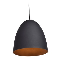 Access Lighting Nostalgia Matte Black Pendant Light with Bowl / Dome Shade
