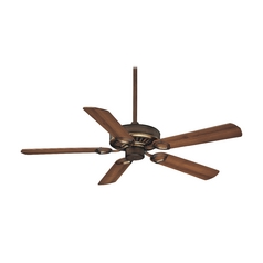 Ceiling Fan Without Light in Belcaro Walnut Finish