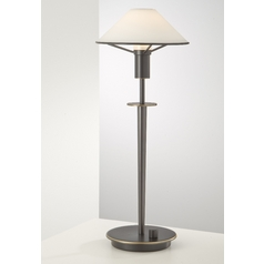 Holtkoetter Modern Table Lamp with White Glass in Hand-Brushed Old Bronze Finish
