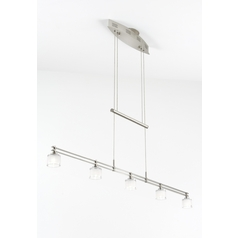Holtkoetter Modern Low Voltage Drum Pendant Light with White Glass in Satin Nickel Finish