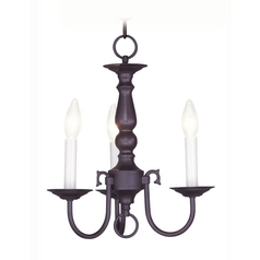 Livex Lighting Williamsburg Bronze Mini-Chandelier