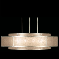 Fine Art Lamps Singapore Moderne Silver Leaf Pendant Light with Drum Shade