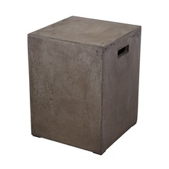 Square Handled Concrete Stool
