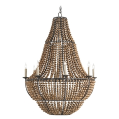Currey And Company 8-Light Chandelier in Old Bronze
