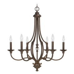 Capital Lighting Leigh Burnished Bronze Crystal Chandelier