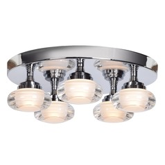 Access Lighting Optix Chrome LED Flushmount Light