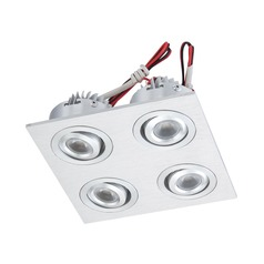 120V LED Puck Light Recessed 3200K Brushed Aluminum by Alico Lighting