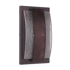 Seeded Glass LED Outdoor Wall Light Copper Craftmade Lighting