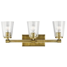 Transitional Bathroom Light Natural Brass Audrea by Kichler Lighting