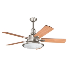 Kichler Ceiling Fan with Light Kit in Pewter Finish