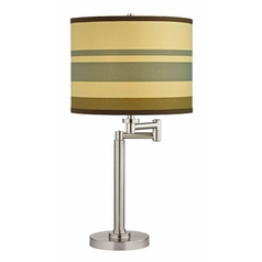 Design Classics Lighting Swing-Arm Table Lamp with Drum Shade 1902-09 SH9542